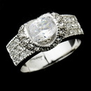 Elegance by Carbonneau Ring-2821-S-Clear Silver Clear Oval CZ Crystal Anniversary Ring 2821