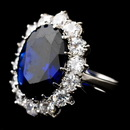 Elegance by Carbonneau ring-5675-s-sapphire Royal Princess Kate Middleton Inspired Sapphire CZ Ring 5675