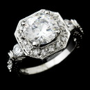 Elegance by Carbonneau Ring-6702-AS-Clear Gorgeous Antique Silver Clear Cubic Zirconia Ring 6702