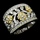 Elegance by Carbonneau Ring-7022 Fabulous Silver Clear Crystal Flower Ring 7022