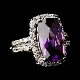 Elegance by Carbonneau Ring-9236-Silver-Amethyst Chic Antique Silver Amethyst Ring 9236