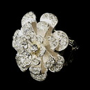 Elegance by Carbonneau Ring-9238-S-Clear Silver Clear Crystal Flower Bridal Ring 9238