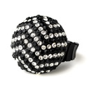 Elegance by Carbonneau Ring-951-Black-Mix Black and Silver Clear Pave Ball Ring 951
