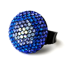 Elegance by Carbonneau Ring-951-Blue Blue Mix Pave Ball Ring 951