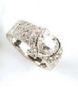 Elegance by Carbonneau RING2821 Silver Cubic Zirconia Ring RING2821