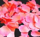 Elegance by Carbonneau Rose-Petals-Peach-Fuchsia-48 Coral Rose Petals (100 count) #48 (Peach with Fuchsia Tips)