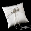 Elegance by Carbonneau RP-11-Brooch-112-S-Clear Ring Pillow 11 with Silver Clear Swirl Brooch 112
