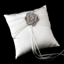 Elegance by Carbonneau RP-11-Brooch-113-A-Clear Ring Pillow 11 with Antique Clear Floral Brooch 113