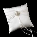 Elegance by Carbonneau RP-11-Brooch-118-A-Pearl Ring Pillow 11 with Antique Silver Marquise Crystal & Pearl Brooch 118