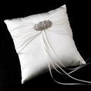 Elegance by Carbonneau RP-11-Brooch-3163-A-Clear Ring Pillow 11 with Antique Silver Clear Cubic Zirconia Brooch 3163