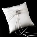 Elegance by Carbonneau RP-11-Brooch-3177-S-Clear Ring Pillow 11 with Silver Clear Rhinestone Beach Starfish Brooch 3177