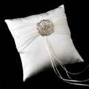 Elegance by Carbonneau RP-11-Brooch-3181 Ring Pillow 11 with Vintage Rhinestone Brooch 3181