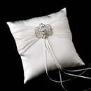 Elegance by Carbonneau RP-11-Brooch-46-S-Clear Ring Pillow 11 with Silver Clear Vintage Swirl Brooch 46