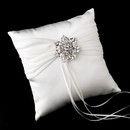 Elegance by Carbonneau RP-11-Brooch-63-S-Clear Ring Pillow 11 with Silver Clear Crystal Floral Star Brooch 63