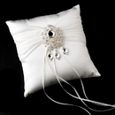 Elegance by Carbonneau RP-11-Brooch-8777-S-Clear-AB Ring Pillow 11 with Vintage Crystal & Rhinestone Dangle Brooch 8777