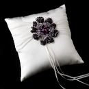 Elegance by Carbonneau RP-11-Brooch-8779 Ring Pillow 11 with Crystal & Rhinestone Floral Brooch 8779