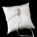 Elegance by Carbonneau RP-11-Brooch-89-S-AB Ring Pillow 11 with Silver Clear AB Beach Seahorse Brooch 89