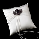 Elegance by Carbonneau RP-11-Brooch-935-A-Amethyst Ring Pillow 11 with Antique Brooch 935 (Amethyst, AB Irridescent or Clear)