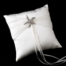 Elegance by Carbonneau RP-11-Brooch-93 Ring Pillow 11 with Crystal Starfish Brooch 93