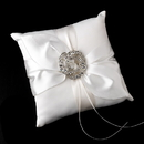 Elegance by Carbonneau RP-17-Brooch-20-A-Clear Ring Pillow 17 with Antique Silver Clear Brooch 20