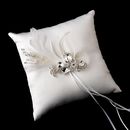 Elegance by Carbonneau RP-9-Brooch-42 Ring Pillow 9 with Silver Clear Crystal & Feather Brooch 42