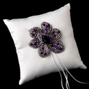 Elegance by Carbonneau RP-9-Brooch-8798 Ring Pillow 9 with Marquise Crystal & Rhinestone Brooch 8798