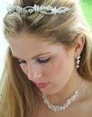 Elegance by Carbonneau Set-HP2433-NE7600 Crystal Bridal Jewelry & Tiara Set NE 7600 & HP 2433