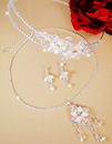 Elegance by Carbonneau Set-HP7801-NE7801 Elegant Swarovski Crystal & Freshwater Pearl Bridal Jewelry & Headband Tiara Set NE 7801 & HP 7801