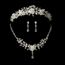 Elegance by Carbonneau Set-HP-8003-NE-8003- Couture Crystal Matching Jewelry & Tiara Set NE 8003 & HP 8003