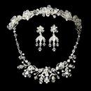 Elegance by Carbonneau Set-NE6317-HP7820-S Swarovski Crystal Bridal Necklace Earring & Tiara Set