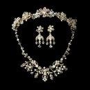 Elegance by Carbonneau Set-NE6317-HP7820 Swarovski Crystal Bridal Necklace Earring & Tiara Set