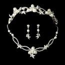 Elegance by Carbonneau Set-NE7329-HP7808 Swarovski Crystal Bridal Necklace Earring & Tiara Set