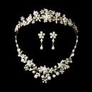 Elegance by Carbonneau Set-NE8001-HP8452 Pearl & Crystal Bridal Jewelry & Tiara Set (Gold or Silver)