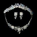 Elegance by Carbonneau Set-NE8002-HP8143- AB Aurora Borealis Swarovski Crystal Bridal Jewelry & Tiara Set