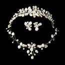 Elegance by Carbonneau Set-NE8134-HP8134 Freshwater Pearl & Crystal Bridal Jewelry & Tiara Set 8134