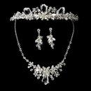 Elegance by Carbonneau Set-NE8237-and-HP8237 Swarovski Crystal Bridal Necklace Earring & Tiara Set 8237