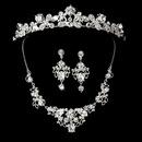 Elegance by Carbonneau Set-NE8310-HP8310 Swarovski Crystal Bridal Necklace Earring & Tiara Set 8310