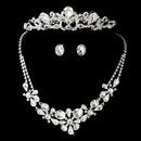 Elegance by Carbonneau Set-NE8313-Comb8246 Swarovski Bridal Necklace Earring & Tiara Set NE 8313 & Comb 8246