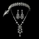 Elegance by Carbonneau Set-NEB7816-HP7816 Elegant Rhinestone Bridal Necklace Earring & Tiara Set