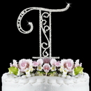 Elegance by Carbonneau T-Roman Romanesque ~ Swarovski Crystal Wedding Cake Topper ~ Letter T