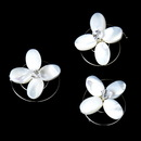 Elegance by Carbonneau Twist-09 3 Chic Mother Of Pearl Flower Twist-Ins 09
