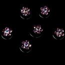 Elegance by Carbonneau Twist-1-Pink Pink Crystal Rhinestone Twist In Hair Spinners (Set of 12)