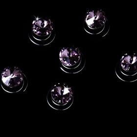 Elegance by Carbonneau Twist-4-SLtAmethyst-Large 12 Large Vibrant Amethyst Rhinestone Twist-Ins 04