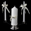 Elegance by Carbonneau UC-848 Ribbon & Brooch Unity Candle Set 848
