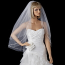 Elegance by Carbonneau V-2475 Double Layer Fingertip Length Bridal Veil with Exquisite Beaded Edge 2475