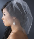 Elegance by Carbonneau V-Cage-502 Single Tier Fine Birdcage Face Veil Softly Scattered with Rhinestones 502