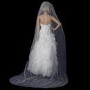 Elegance by Carbonneau VC-1C Bridal Wedding Single Layer Cathedral Cut Edge Length Veil VC 1C
