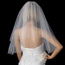 Elegance by Carbonneau VC-E Bridal Wedding Double Layer Elbow Length Cut Edge Veil VC E