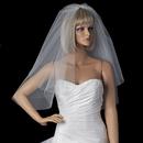 Elegance by Carbonneau VC-S Bridal Wedding Double Layer Shoulder Length Cut Edge Veil VC S