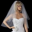 Elegance by Carbonneau VP-E Bridal Wedding Double Layer Elbow Length Pencil Edge Veil VP E